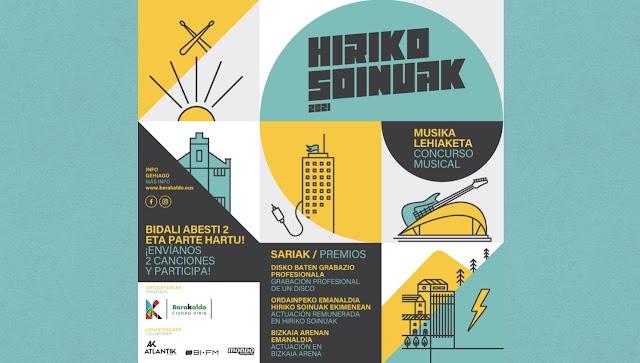 Las bandas ganadoras de la tercera edición de Hiriko Soinuak actuarán en el Bizkaia Arena el 30 de octubre