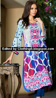 Al-Zohaib Maheen Embroidered Tunic Collection 2015