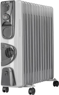 Usha 2000-Watt Oil Filled Radiator Room Heater (3809 PTC)
