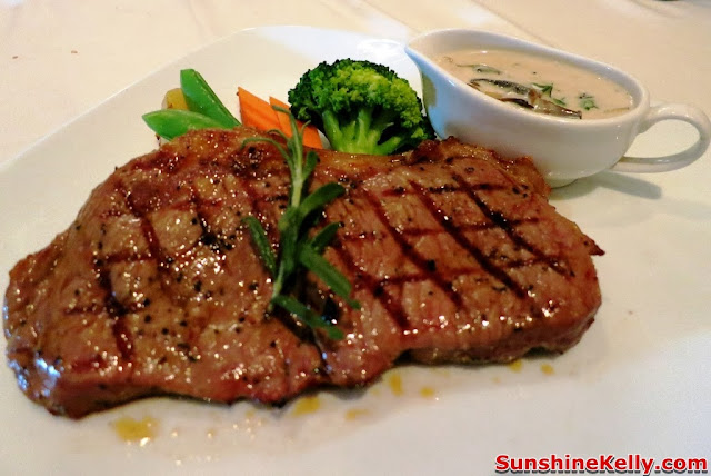 KL Restaurant Week, OPUS Bistro @ Bangkung, bangsar, Food Review, Italian food, cuisine, Sirloin Steak Mushroom Sauce, steak, meat