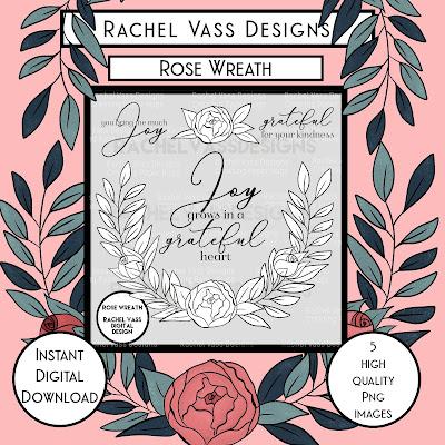 Rachel Vass Designs - Rose Wreath