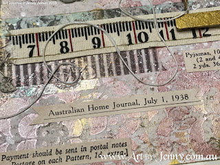 Finished collage artwork featuring 1938 Childrens Clothing from Australian Home Journal magazine by Jenny James