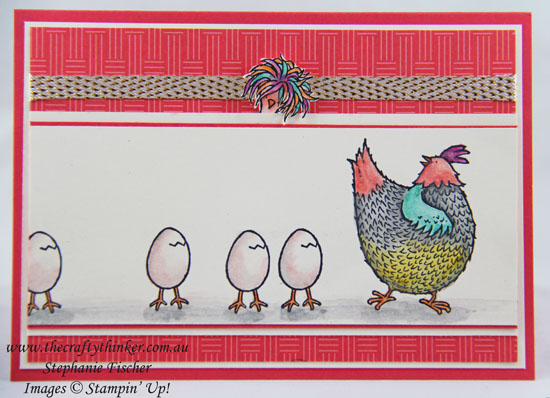 www.thecraftythinker.com.au, Sale-A-Bration, Hey Chick, #GDP070, #thecraftythinker, Stampin Up Australia Demonstrator, Stephanie Fischer, Sydney NSW
