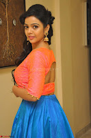 Nithya Shetty in Orange Choli at Kalamandir Foundation 7th anniversary Celebrations ~  Actress Galleries 053.JPG