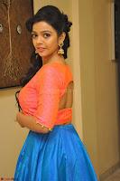 Nithya Shetty in Orange Choli at Kalamandir Foundation 7th anniversary Celebrations ~  Actress Galleries 053.JPG