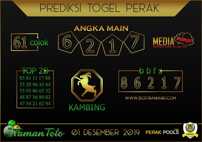 Prediksi Togel PERAK TAMAN TOTO 01 DESEMBER 2019