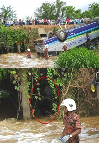Demonic Entity Spotted On A Bus Crash Site In Malaysia