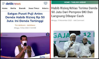 Haters Makin Meriang, Satgas Pusat Puji Anies Denda HRS Rp 50 Juta: Ini Denda Tertinggi