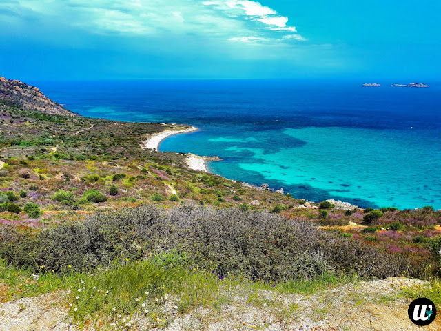 Beach and sea view from car, driving | Sardinia, Italy | wayamaya
