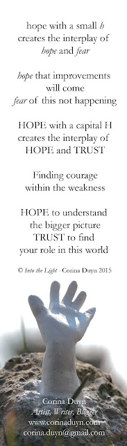 HOPE Quote from  Into the Light by Corina Duyn