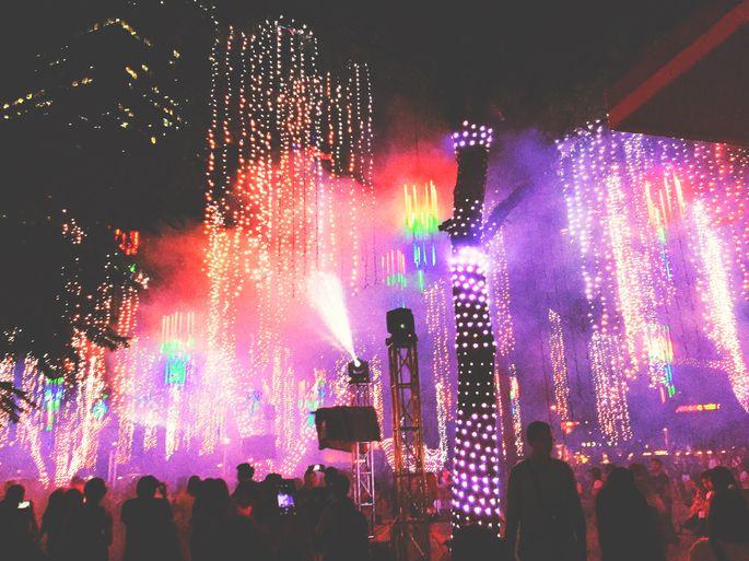 Light show inside Ayala Triangle Gardens