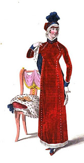 Regency walking dress   from La Belle Assemblée (Jan 1811)