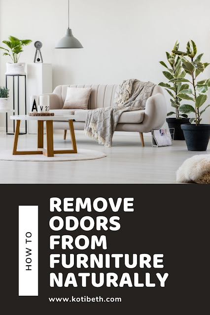 How to remove odors from furniture, fabric, and linen naturally.  Get several natural DIYs to make for your couch, sofa, curtains, pillows, and even carpet. Get rid of house smells with odor eliminator natural ingredients like baking soda, vinegar, vodka, and essential oils. Plus how to make a homemade Fabreeze spray furniture spray with essenital oils and vodka to remove odors naturally with a linen spray. #odoreliminator #recipe #diy #linenspray