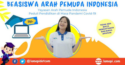 Beasiswa Arah Pemuda Indonesia 2020