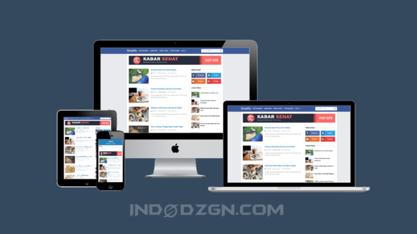 download template simplify blue premium, kumpulan template blogger premium gratis, template arlina design premium
