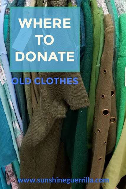 where to donate worn out clothes
