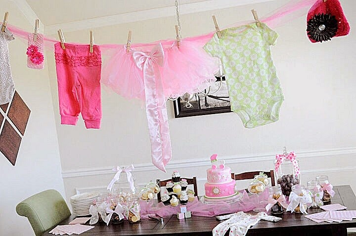 green girl baby shower