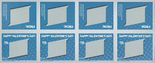 Back of the first four Justice League Valentines