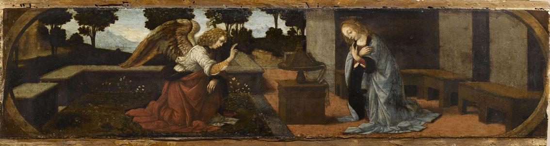 La Anunciación, Verrocchio. Museo del Louvre. París.
