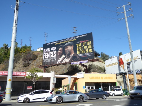 Fences movie billboard Sunset Strip