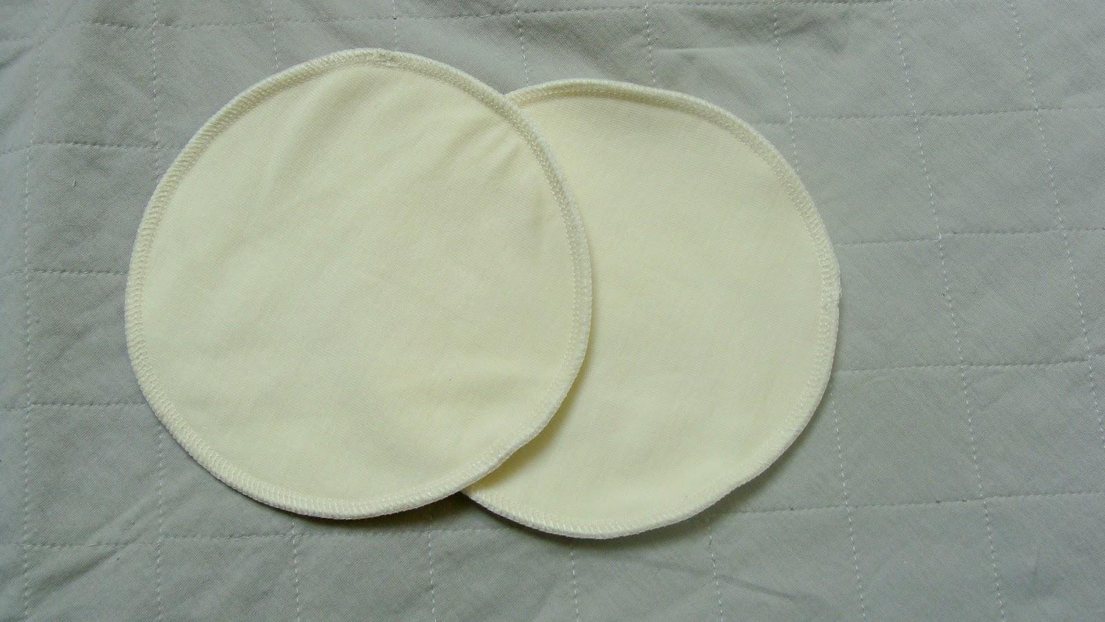 Wielorazowe wkładki laktacyjne z wełny merynosów