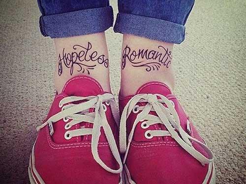 front ankle quote tatto ayak bileği yazı dövmesi
