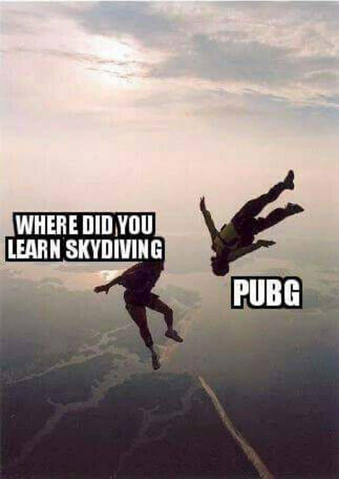 where-do-you-learn-skydriving-in-pubg-funny-memes