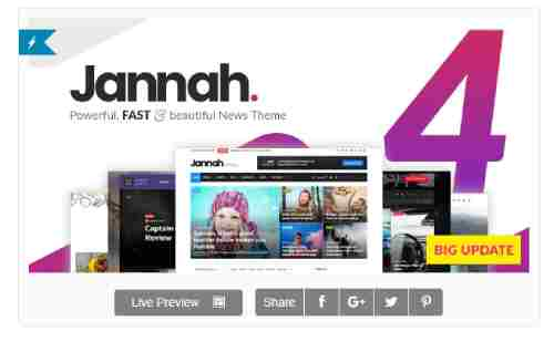 ⁠Jannah News v4.3.0 - Newspaper Magazine News AMP BuddyPress