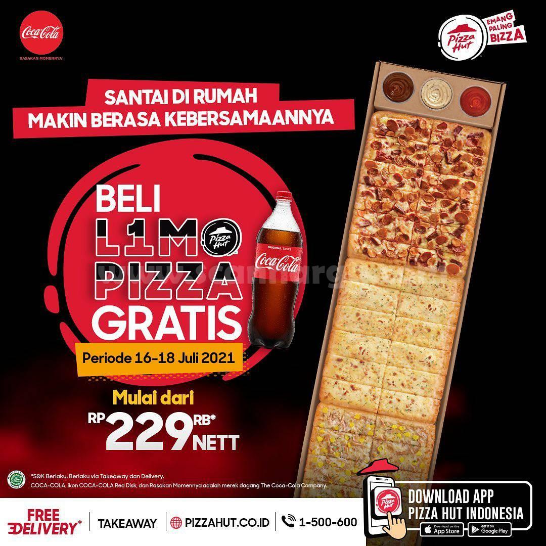 Promo PIZZA HUT Terbaru - Beli L1MO Pizza GRATIS Coca Cola