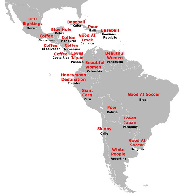 Latin America according to Japan
