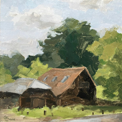#96 'The Barns, Tilford Green' 8×8″
