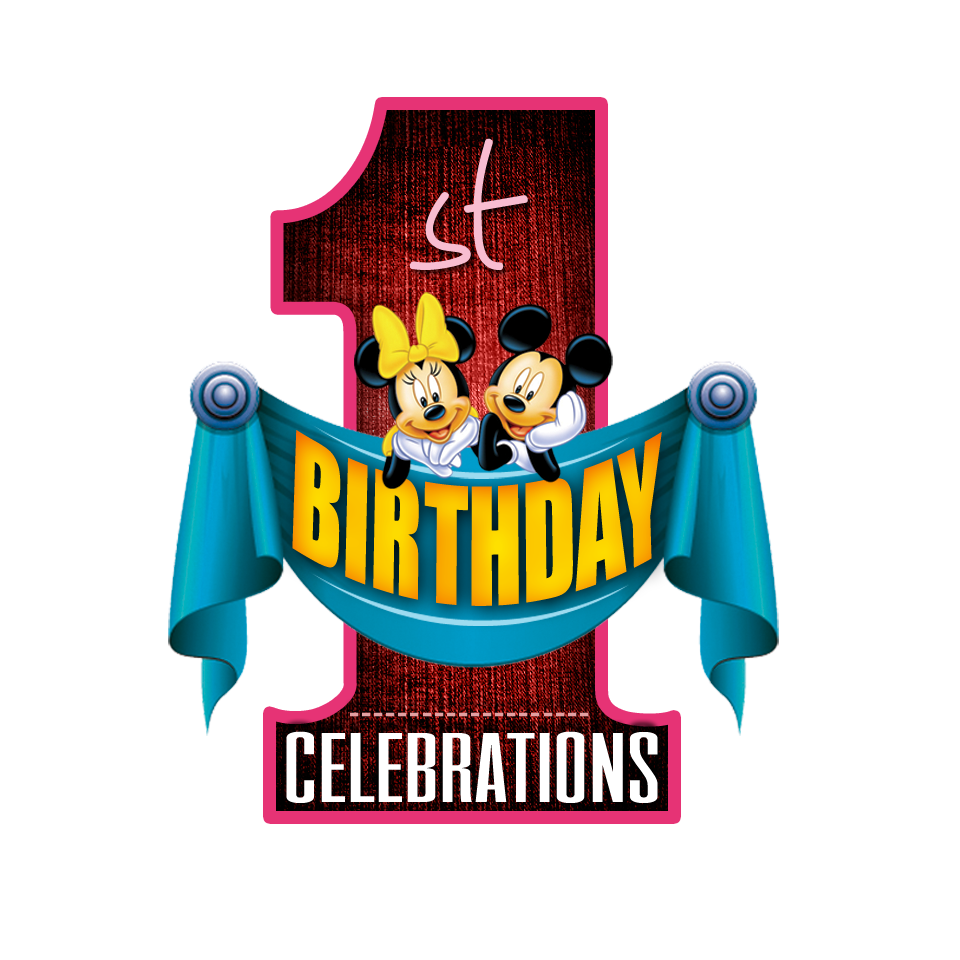 1st birthday celebrations PNG logo free downloads | naveengfx