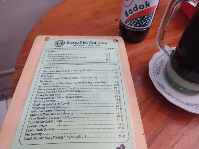 kong djie coffee menu
