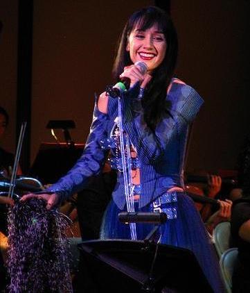 Foto de Susana Zabaleta en el escenario