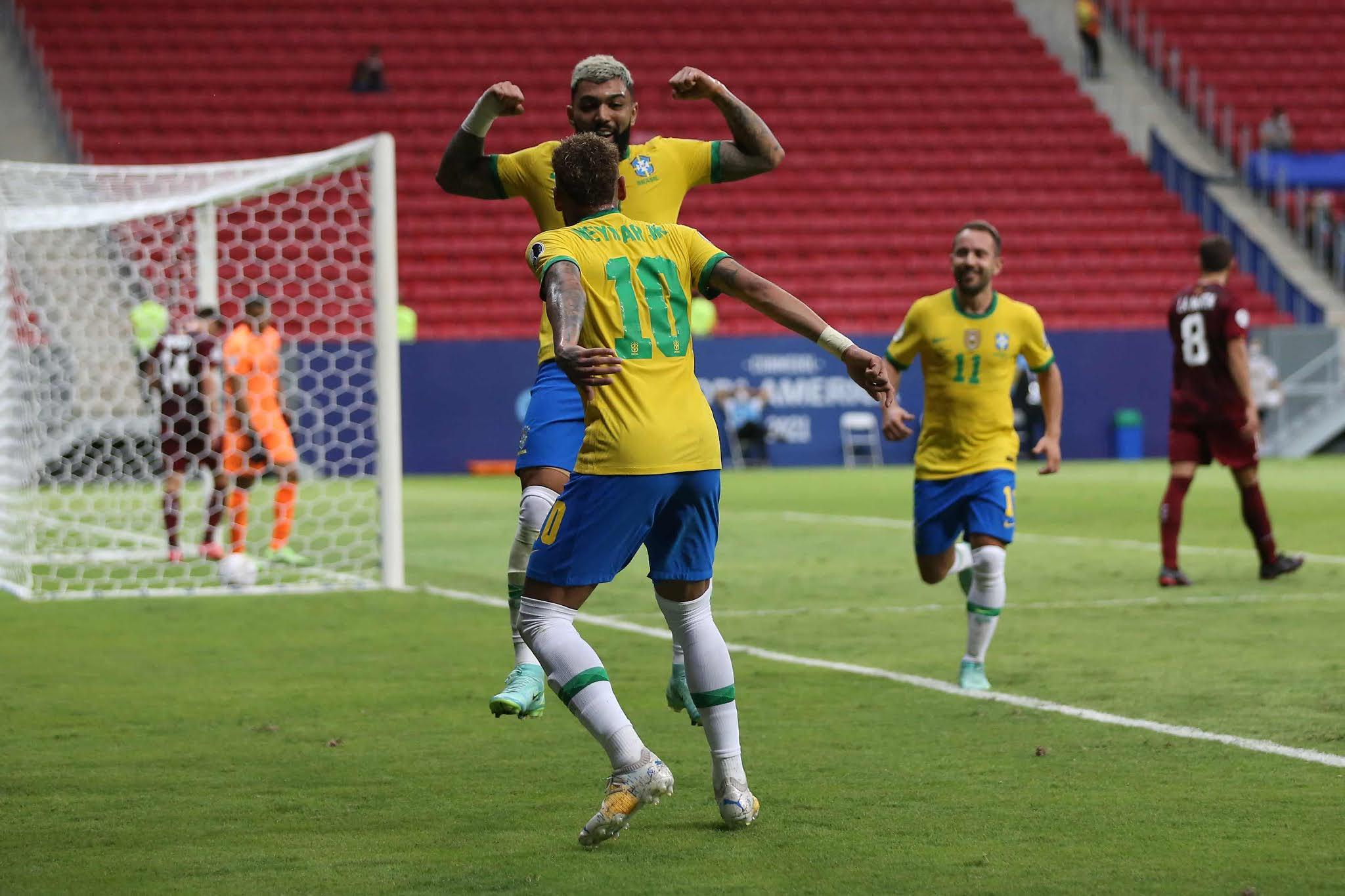 Brasil debutó con goleada ante una Venezuela que hizo lo que pudo