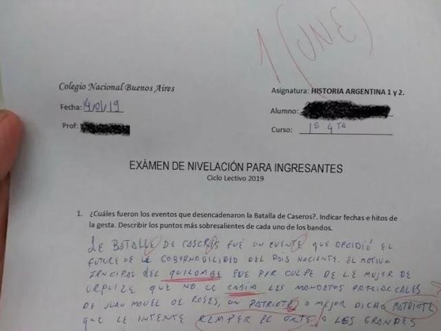 """Respondió el examen de ingreso con lenguaje inclusivo y le pusieron un """"une"""""""