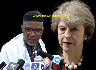 Theresa May: IPOB: UK Queries Nigeria Governmrnt