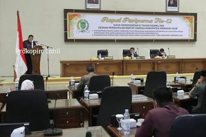 DPRD Inhil Gelar Paripurna Rancangan Perubahan KUA dan PPAS APBD Inhil 2021