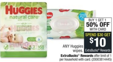Huggies Baby Wipes CVS Deal 9-13-9-19