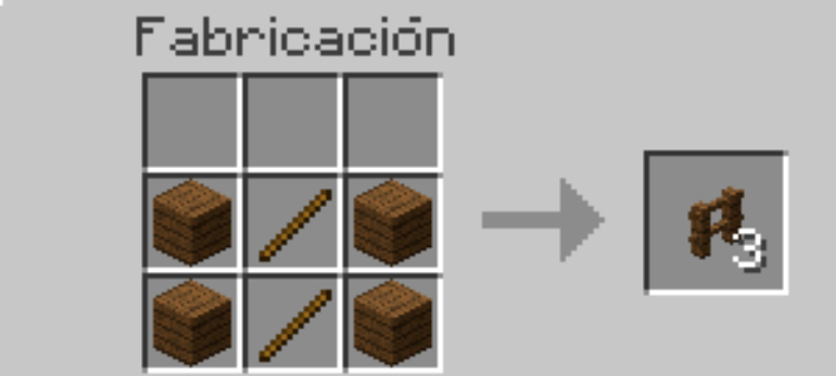 A couple of sticks and four wooden blocks are enough to make 3 fences