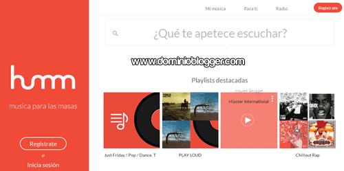Escucha musica gratis online en Humm