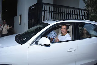 sonu with his family in white audi Q7