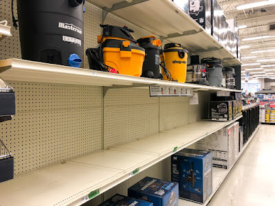 Shelves are bare of Shop-Vac at my local Canadian Tire