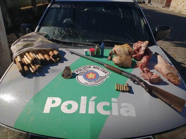 Policia Ambiental: Apreende Porte ilegal de Arma de Fogo, Degradação Ambiental e Caça