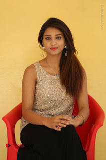 Tollywood Upcoming Actress Arthi Stills in Black Skirt at Plus 1 Movie Trailer Launch  0090.JPG