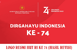 Logo Resmi HUT RI ke 74 Revisi (Valid)  + File Billboard, Poster, Umbul, Spanduk, Font dll.