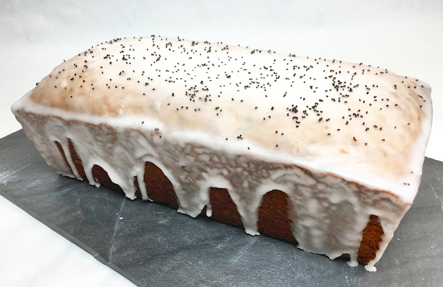 Glazed Lemon Poppy Madeira Cake