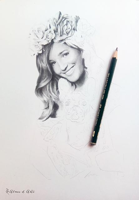 Proceso de creación del retrato de Malena Costa