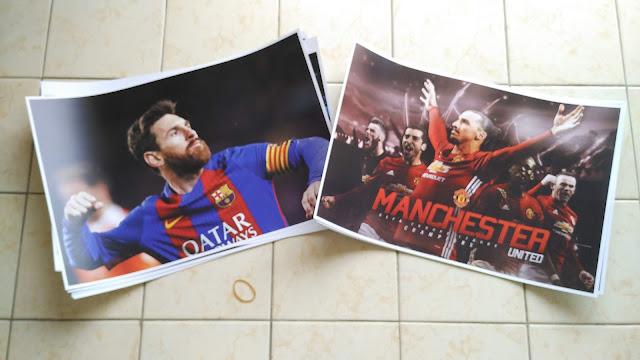 Poster Pemain Sepak Bola
