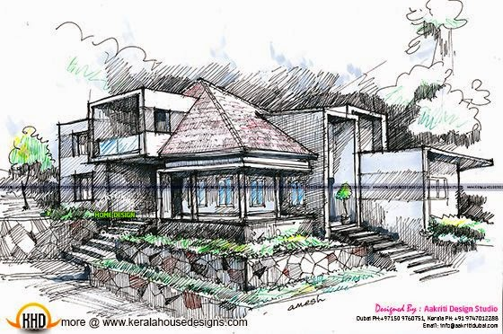 Home design sketch